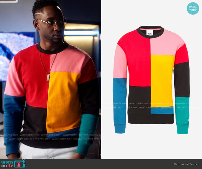 Vans Patchy Crew Pullover worn by Chester Phineas Runk (Brandon McKnight) on The Flash