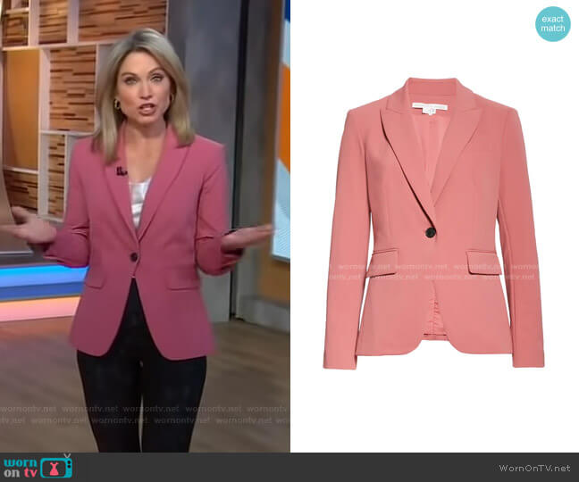 Cutaway Dickey Jacket by Veronica Beard worn by Amy Robach  on Good Morning America