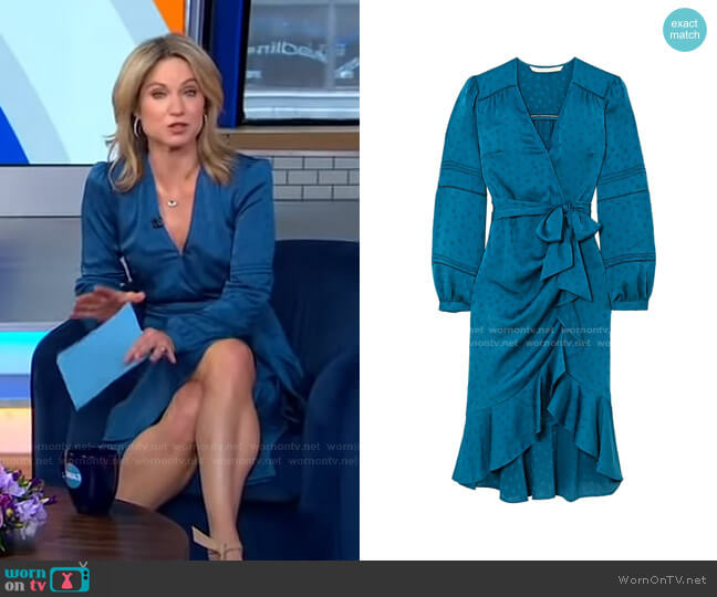 Miriam Dress by Veronica Beard worn by Amy Robach  on Good Morning America
