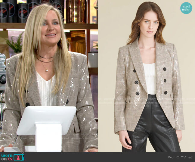 Veronica Beard Miller Sequin Dickey Jacket worn by Sharon Collins (Sharon Case) on The Young & the Restless