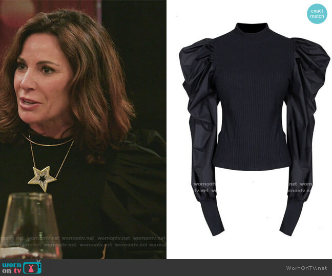 Cotton Sweater Blouse by Vinashny worn by Luann de Lesseps  on The Real Housewives of New York City