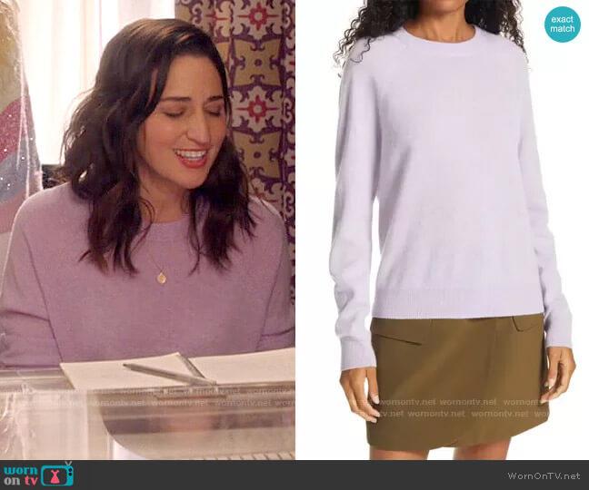 Vince Raglan Cashmere Sweater worn by Dawn Solano (Sara Bareilles) on Girls5eva