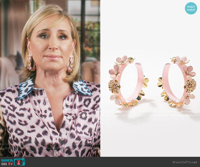 Mae Earrings by Von Bloom worn by Sonja Morgan  on The Real Housewives of New York City