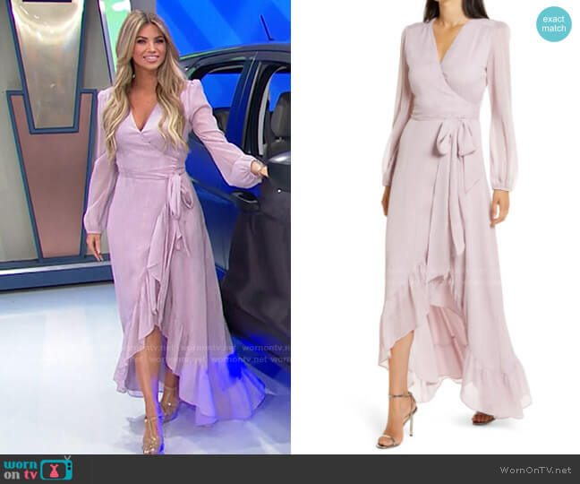 WAYF Meryl Gown worn by Amber Lancaster  on The Price is Right