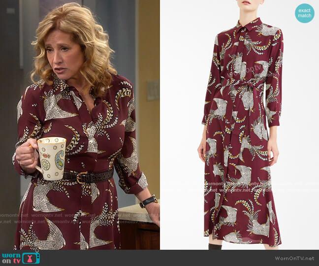 Weekend Max Mara Silk Dress worn by Vanessa Baxter (Nancy Travis) on Last Man Standing