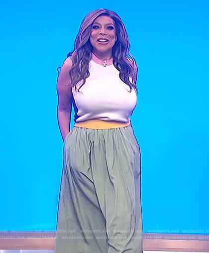 Wendy's green midi skirt on The Wendy Williams Show