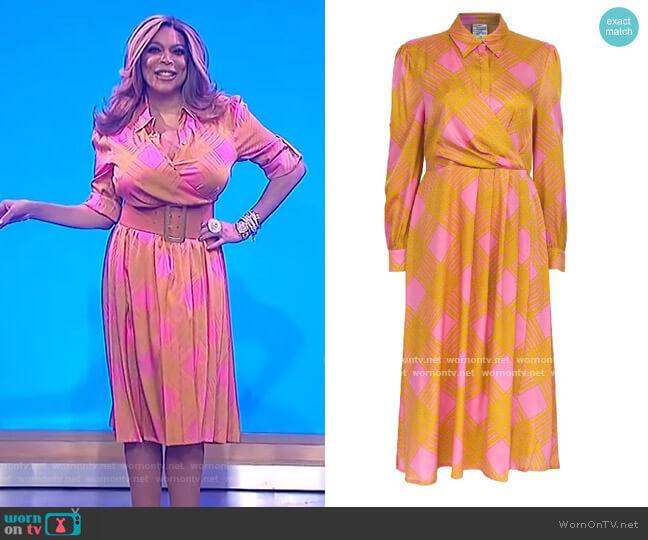 Alham Dress by Baum Und Pferdgarten worn by Wendy Williams  on The Wendy Williams Show
