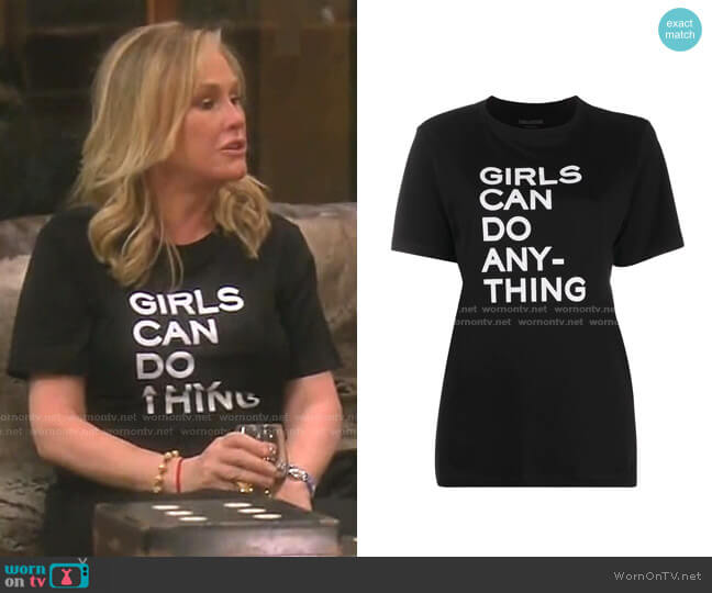 Bella T-Shirt by Zadig & Voltaire worn by Kathy Hilton  on The Real Housewives of Beverly Hills