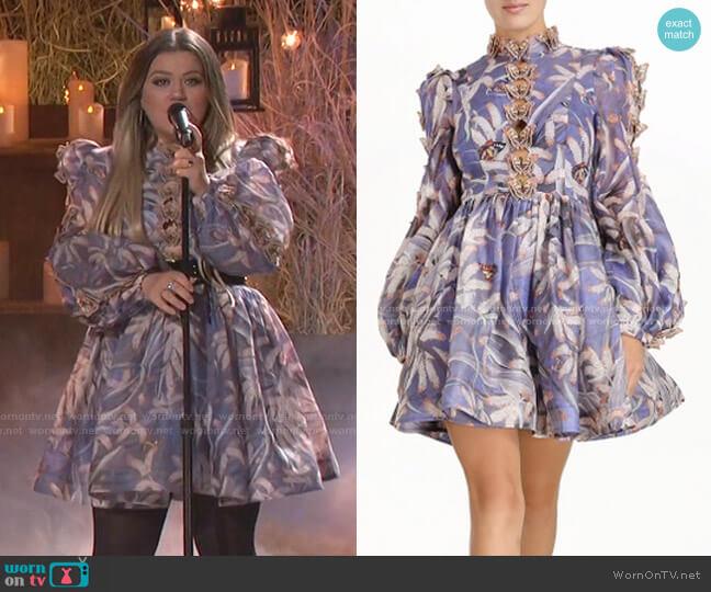 Botanica Butterfly Mini Dress by Zimmermann worn by Kelly Clarkson  on The Voice