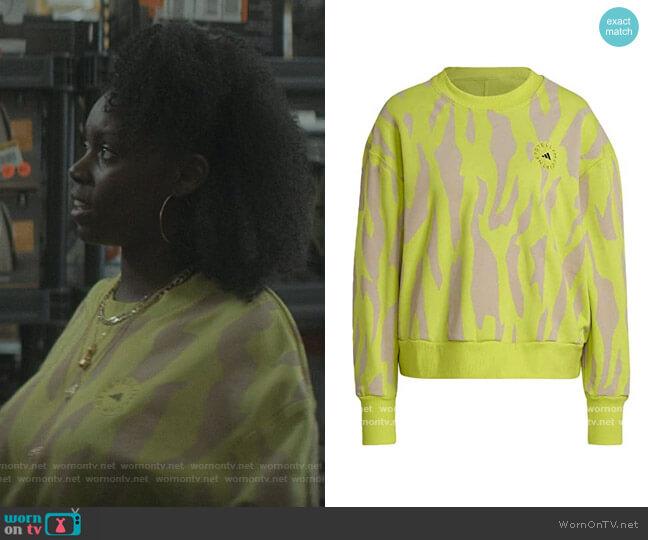 Stella McCartney Sweatshirt in Acid Yellow by Adidas worn by Kiesha Williams (Birgundi Baker) on The Chi