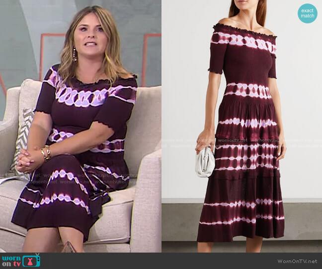 Ayaka Dress by Altuzarra worn by Jenna Bush Hager  on Today
