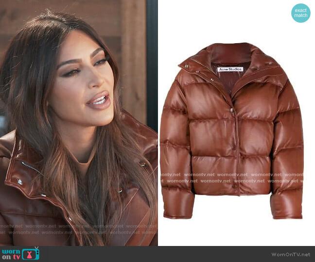 Down Jacket by Acne Studios worn by Kim Kardashian  on Keeping Up with the Kardashians