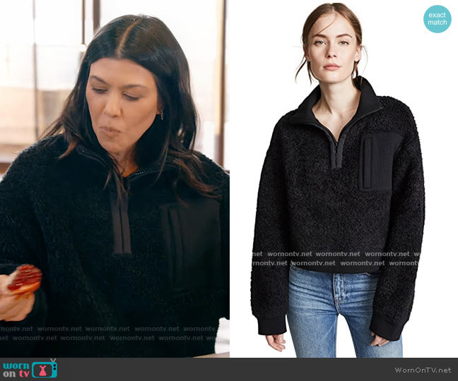 Fleece Half Zip Turtleneck by Alexander Wang worn by Kourtney Kardashian  on Keeping Up with the Kardashians
