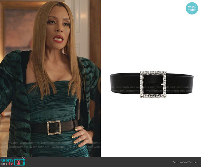 Crystal Buckle Belt by Alexandre Vauthier worn by Dominique Deveraux (Michael Michele) on Dynasty