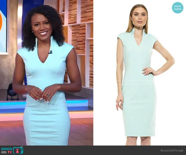 Katrina V Neck Midi Dress by Alexia Admor worn by Janai Norman  on Good Morning America