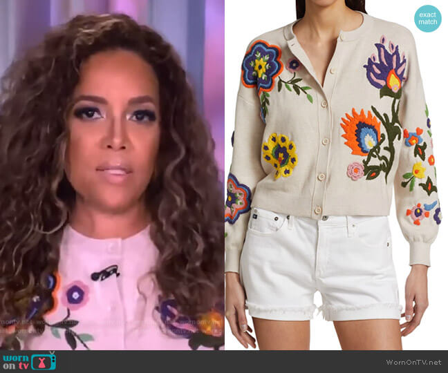 Lelia Floral-Embroidered Cardigan Alice + Olivia worn by http://abc.go.com/shows/the-view (ABC) on Uncategorized