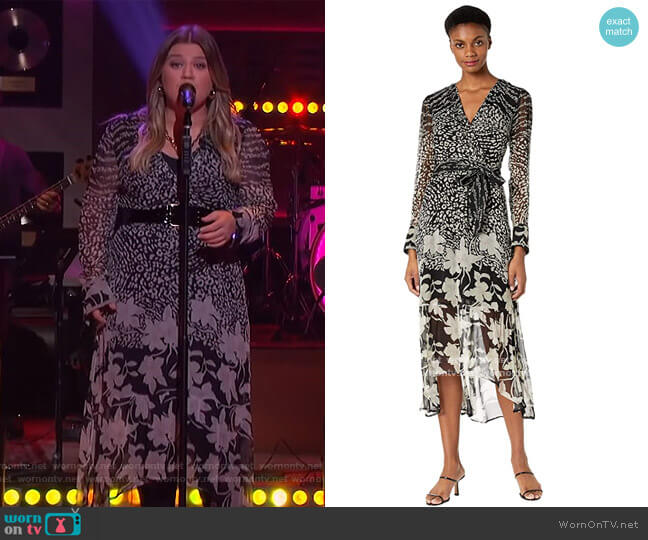 Florence Tempo Dress by All Saints worn by Kelly Clarkson  on The Kelly Clarkson Show