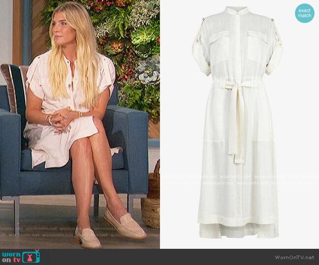 Luciana satin utility midi dress by All Saints worn by Amanda Kloots  on The Talk