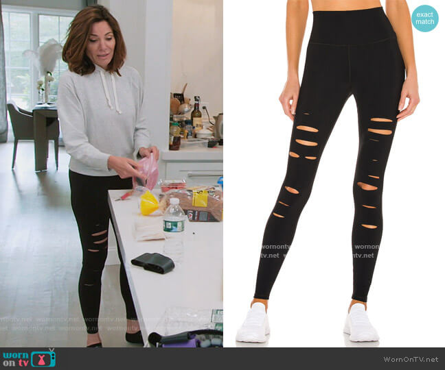 Ripped Warrior Legging by Alo Yoga worn by Luann de Lesseps  on The Real Housewives of New York City