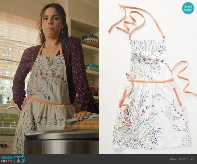 Anthropologie Printemps Apron worn by Isabel Salazar (Ana Ortiz) on Love Victor