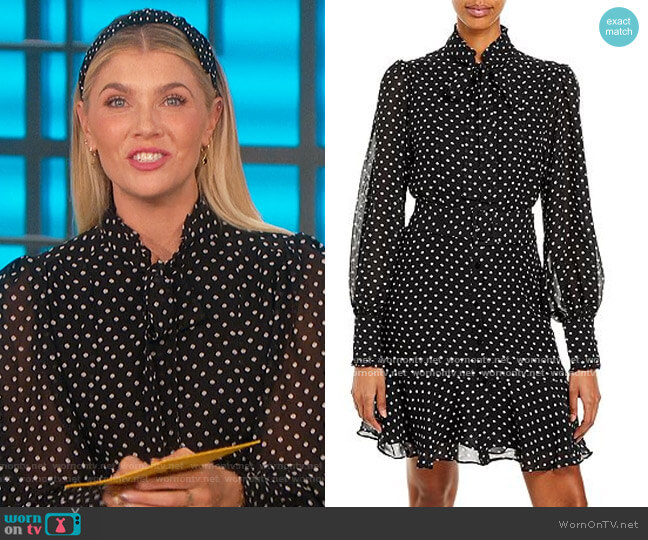 Sheer Polka Dot Dress by Aqua worn by Amanda Kloots  on The Talk