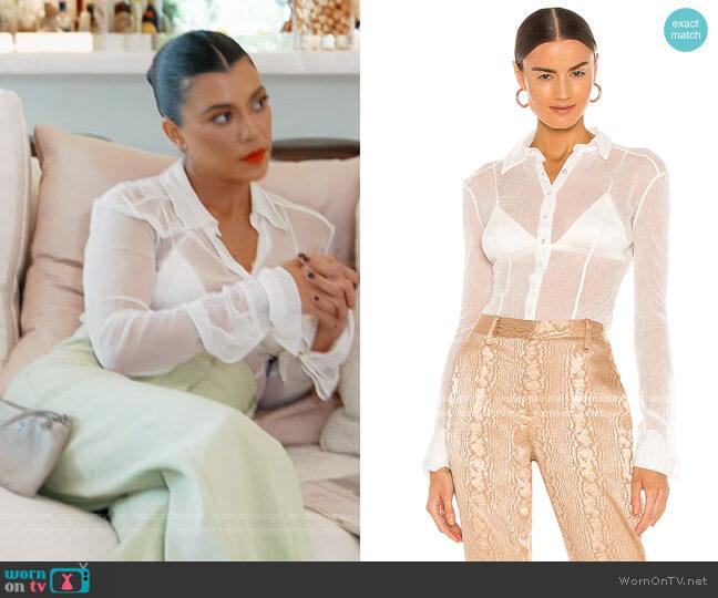 Lila Mesh Shirt by Aya Muse worn by Kourtney Kardashian  on Keeping Up with the Kardashians