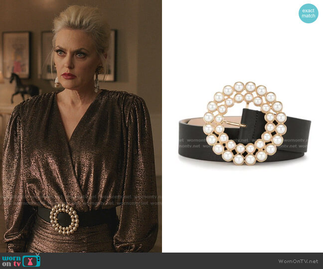 Pearl Buckle Belt by B-Low The Belt worn by Alexis Carrington (Elaine Hendrix) on Dynasty