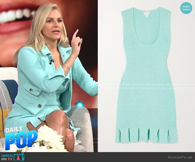 Crop Knit Jacket by Bottega Veneta worn by Morgan Stewart  on E! News