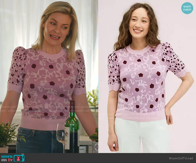 Begonia Jacquard Sweater by Kate Spade worn by Stephanie Borden (Kylee Evans) on Good Witch