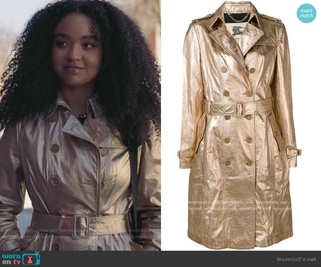 1990 Trench Coat by Burberry worn by Kat Edison (Aisha Dee) on The Bold Type
