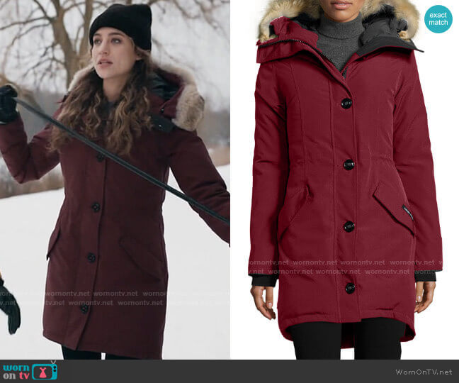Canada Goose Rossclair Parka worn by Sarah Cooper (Stella Baker) on The Republic of Sarah