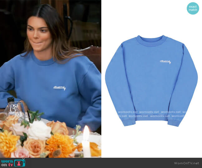 Summer Classic Crewneck Sweatshirt by Cherry worn by Kendall Jenner  on Keeping Up with the Kardashians