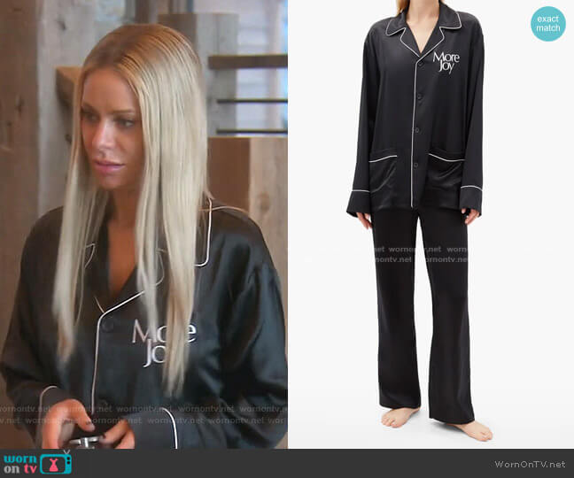 More Joy-Print Silk-Satin Pyjamas by More Joy by Christopher Kane worn by Dorit Kemsley  on The Real Housewives of Beverly Hills