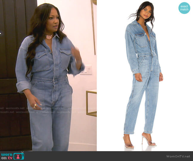 Marta Jumpsuit by Citizens of Humanity worn by Garcelle Beauvais  on The Real Housewives of Beverly Hills