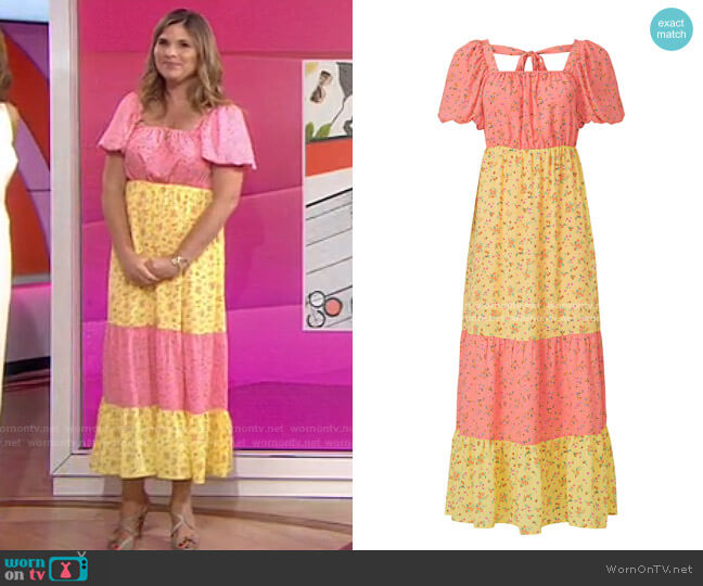 Cece Maxi Dress by Color Me Courtney worn by Jenna Bush Hager  on Today