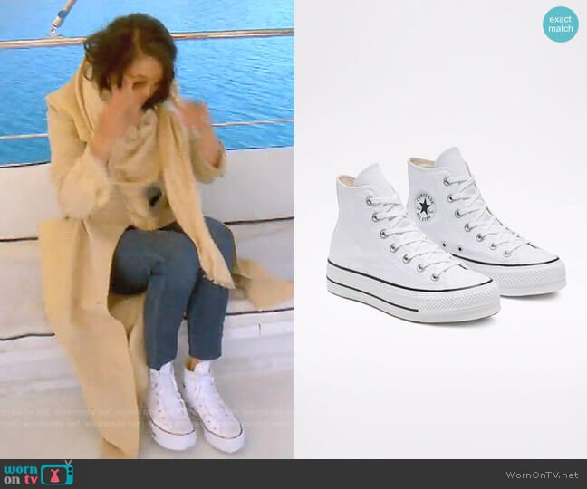 Chuck Taylor® All Star® Lift High Top Platform Sneaker by Converse worn by Crystal Kung Minkoff  on The Real Housewives of Beverly Hills