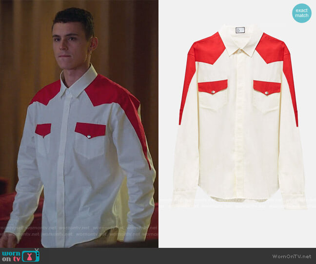 Marco Shirt by D the Brand worn by Aron Piper by Elite