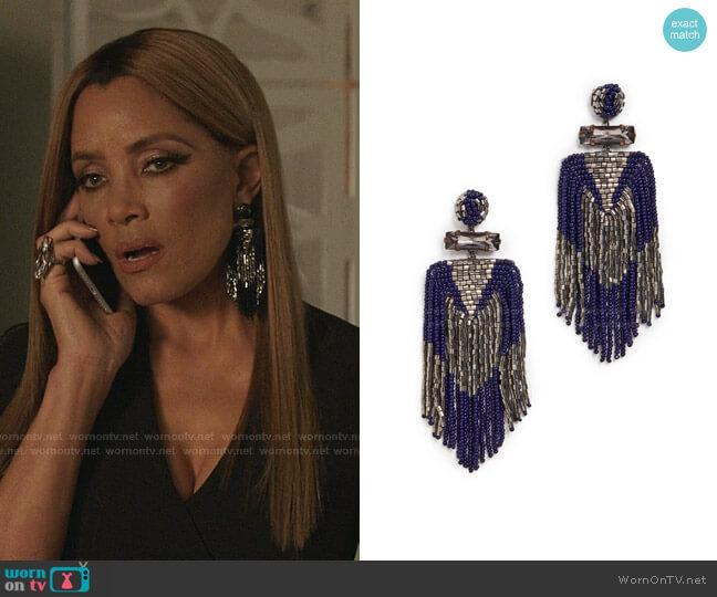 Jody Earrings by Deepa Gurnani worn by Dominique Deveraux (Michael Michele) on Dynasty