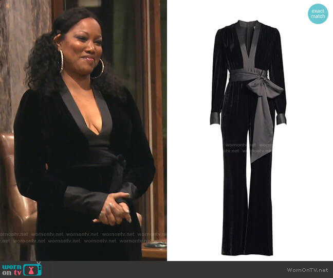 Sash Jumpsuit by Diane von Furstenberg worn by Garcelle Beauvais  on The Real Housewives of Beverly Hills