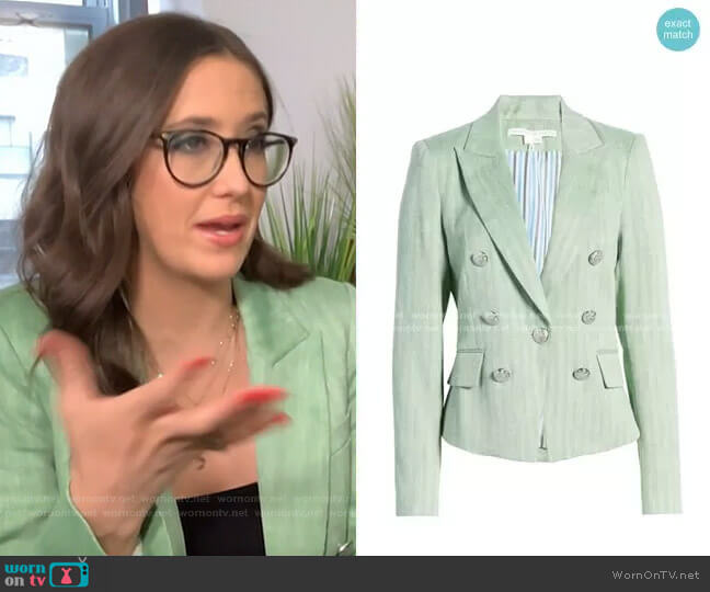 Diego Linen Blend Dickey Jacket by Veronica Beard worn by Savannah Sellers on Today