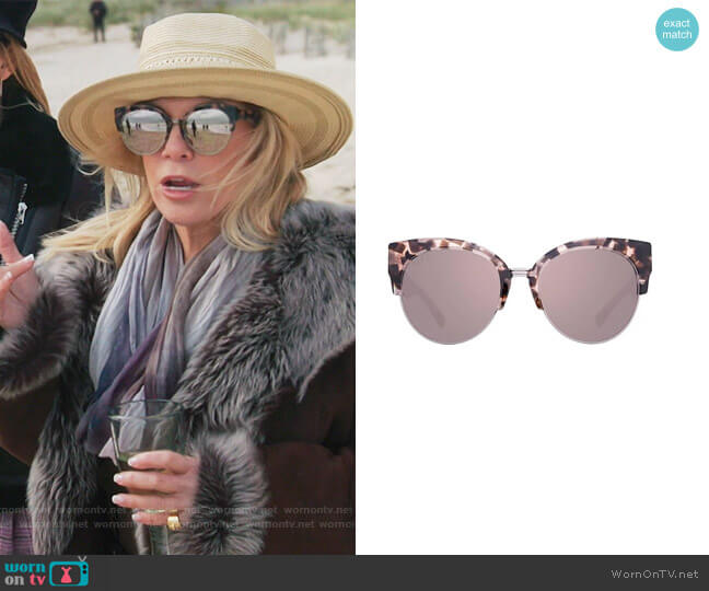 Stella 55mm Polarized Cat Eye Sunglasses by Diff worn by Ramona Singer  on The Real Housewives of New York City