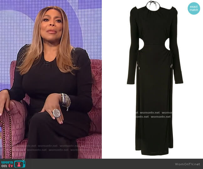 Cutout gathered jersey maxi dress by Dion Lee worn by Wendy Williams  on The Wendy Williams Show