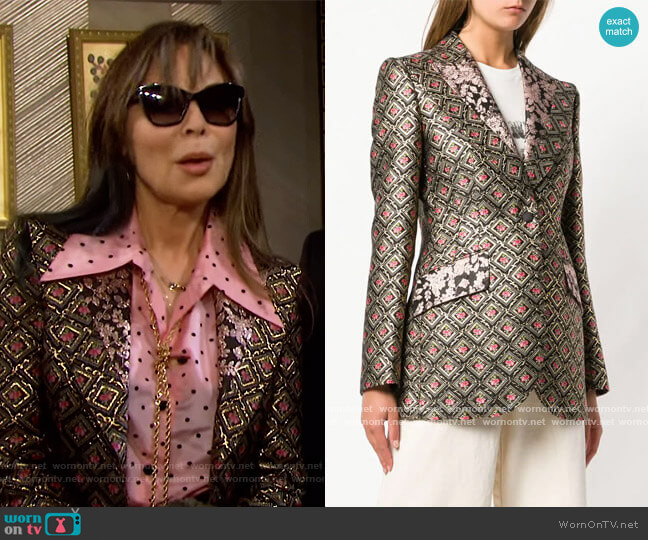Jacquard Blazer by Dolce & Gabbana worn by Kate Roberts (Lauren Koslow) on Days of our Lives