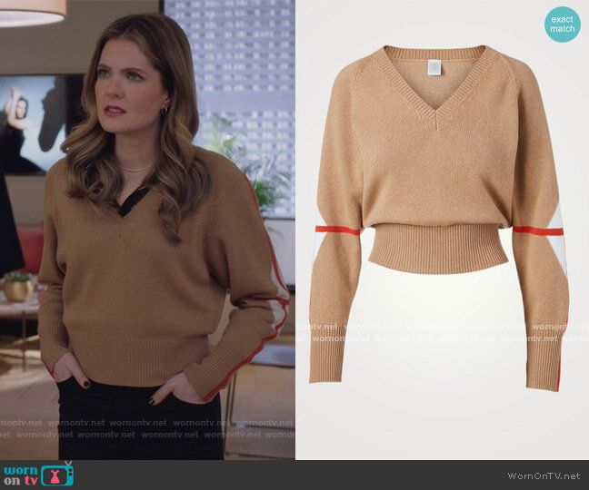 Wool And Cashmere Sweater by Eleventy worn by Sutton (Meghann Fahy) on The Bold Type