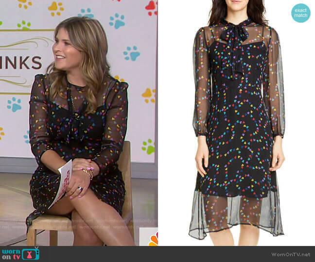 Elisa Dress by HVN worn by Jenna Bush Hager  on Today