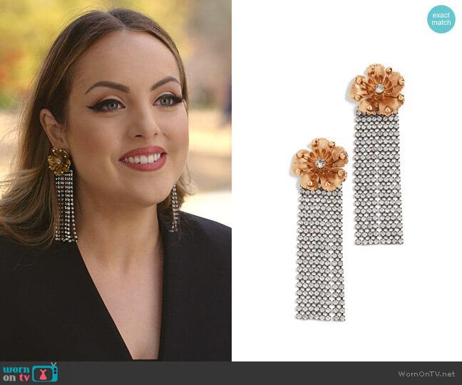Juliette Earrings by Elizabeth Cole worn by Fallon Carrington (Elizabeth Gillies) on Dynasty