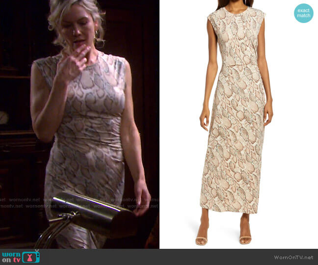 Ruched Jersey Dress by Fourteenth Place worn by Kristen DiMera (Stacy Haiduk) on Days of our Lives