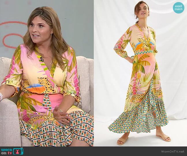 Tropical Wrap Maxi Dress by Farm Rio worn by Jenna Bush Hager  on Today