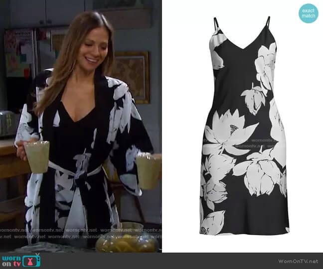 Floral Slip Dress by Natori worn by Ava Vitali (Tamara Braun ) on Days of our Lives