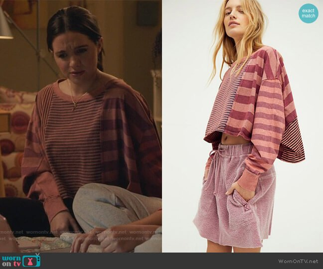 I Love Stripes Tee by Free People worn by Jane Sloan (Katie Stevens) on The Bold Type